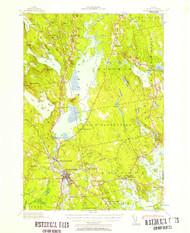 Ellsworth, Maine 1940 (1957) USGS Old Topo Map 15x15 Quad