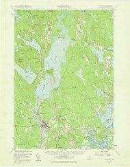 Ellsworth, Maine 1957 (1959) USGS Old Topo Map 15x15 Quad