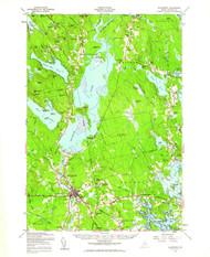Ellsworth, Maine 1957 (1962) USGS Old Topo Map 15x15 Quad