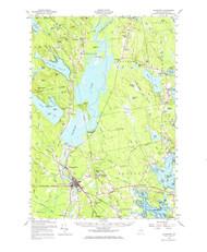 Ellsworth, Maine 1957 (1971) USGS Old Topo Map 15x15 Quad