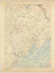 Freeport, Maine 1892 (1892) USGS Old Topo Map 15x15 Quad
