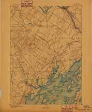 Freeport, Maine 1892 (1899) USGS Old Topo Map 15x15 Quad