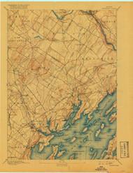 Freeport, Maine 1892 (1918) USGS Old Topo Map 15x15 Quad
