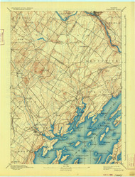 Freeport, Maine 1892 (1933) USGS Old Topo Map 15x15 Quad