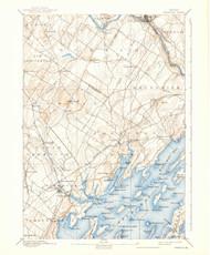 Freeport, Maine 1892 (1939) USGS Old Topo Map 15x15 Quad