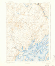 Freeport, Maine 1892 (1943) USGS Old Topo Map 15x15 Quad