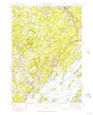 Freeport, Maine 1941 (1957) USGS Old Topo Map 15x15 Quad