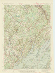 Freeport, Maine 1944 (1944 a) USGS Old Topo Map 15x15 Quad