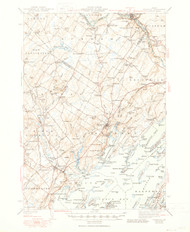 Freeport, Maine 1944 (1950) USGS Old Topo Map 15x15 Quad