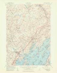 Freeport, Maine 1957 (1961 a) USGS Old Topo Map 15x15 Quad