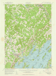 Freeport, Maine 1957 (1961 b) USGS Old Topo Map 15x15 Quad