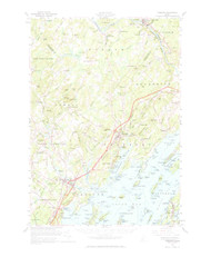 Freeport, Maine 1957 (1965) USGS Old Topo Map 15x15 Quad