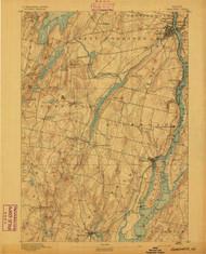 Gardiner, Maine 1892 (1892) USGS Old Topo Map 15x15 Quad