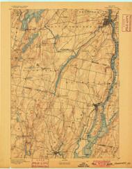 Gardiner, Maine 1893 (1900) USGS Old Topo Map 15x15 Quad