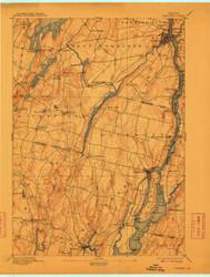 Gardiner, Maine 1895 (1912) USGS Old Topo Map 15x15 Quad