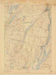 Gardiner, Maine 1896 (1922) USGS Old Topo Map 15x15 Quad