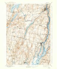 Gardiner, Maine 1898 (1938) USGS Old Topo Map 15x15 Quad