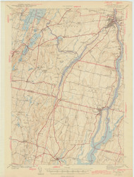 Gardiner, Maine 1943 (1943 a) USGS Old Topo Map 15x15 Quad