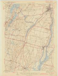 Gardiner, Maine 1943 (1943 a) USGS Old Topo Map 15x15 Quad