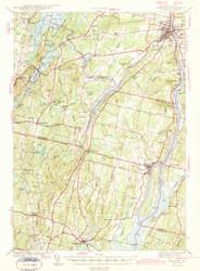 Gardiner, Maine 1943 (1943 b) USGS Old Topo Map 15x15 Quad