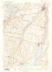 Gardiner, Maine 1943 (1943 c) USGS Old Topo Map 15x15 Quad