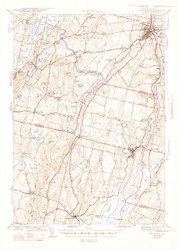Gardiner, Maine 1943 (1947 a) USGS Old Topo Map 15x15 Quad