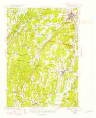 Gardiner, Maine 1943 (1947 b) USGS Old Topo Map 15x15 Quad
