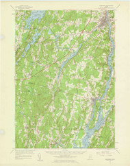 Gardiner, Maine 1957 (1959) USGS Old Topo Map 15x15 Quad