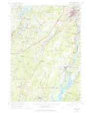 Gardiner, Maine 1957 (1971) USGS Old Topo Map 15x15 Quad