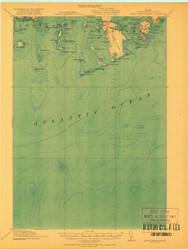 Great Wass Island, Maine 1921 (1921 a) USGS Old Topo Map 15x15 Quad