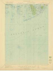 Great Wass Island, Maine 1921 (1921 b) USGS Old Topo Map 15x15 Quad