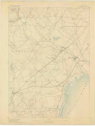 Kennebunk, Maine 1893 (1893) USGS Old Topo Map 15x15 Quad
