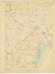 Kennebunk, Maine 1898 (1902) USGS Old Topo Map 15x15 Quad