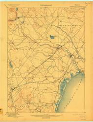 Kennebunk, Maine 1898 (1909) USGS Old Topo Map 15x15 Quad