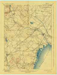Kennebunk, Maine 1898 (1925) USGS Old Topo Map 15x15 Quad