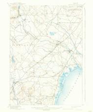 Kennebunk, Maine 1898 (1938) USGS Old Topo Map 15x15 Quad