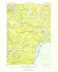 Kennebunk, Maine 1941 (1941) USGS Old Topo Map 15x15 Quad
