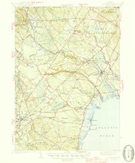 Kennebunk, Maine 1944 (1944 a) USGS Old Topo Map 15x15 Quad