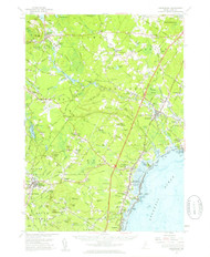 Kennebunk, Maine 1956 (1959 a) USGS Old Topo Map 15x15 Quad