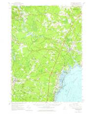 Kennebunk, Maine 1956 (1964) USGS Old Topo Map 15x15 Quad