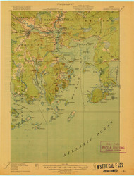 Machias, Maine 1918 (1918 a) USGS Old Topo Map 15x15 Quad