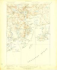 Machias, Maine 1918 (1918 c) USGS Old Topo Map 15x15 Quad