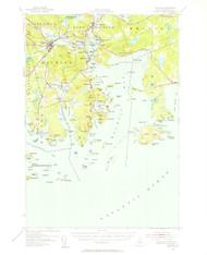 Machias, Maine 1941 (1956 b) USGS Old Topo Map 15x15 Quad