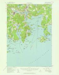 Machias, Maine 1941 (1962) USGS Old Topo Map 15x15 Quad