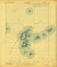 Matinicus, Maine 1906 (1927) USGS Old Topo Map 15x15 Quad
