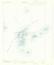 Matinicus, Maine 1906 (1942) USGS Old Topo Map 15x15 Quad
