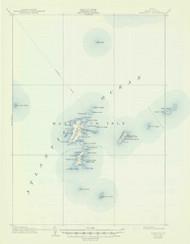 Matinicus, Maine 1906 (1947) USGS Old Topo Map 15x15 Quad