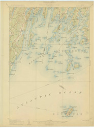 Monhegan, Maine 1906 (1906) USGS Old Topo Map 15x15 Quad