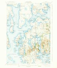 Mount Desert, Maine 1904 (1938) USGS Old Topo Map 15x15 Quad