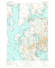 Mount Desert, Maine 1956 (1960 a) USGS Old Topo Map 15x15 Quad
